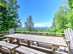 Dine al fresco and enjoy the million dollar views from this deck.