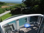 Small patio overlooking the pool and Nauset Inlet.