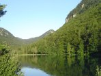 The beautiful Zavrsnica lake is a 6-8 minute walk from our apartment.