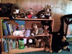 Plush woodland animals and sea creatures, along with plenty of books are fun for all ages!