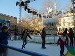 Place Carnot in the main town becomes and ice rink and Christmas market in December