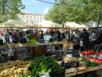 Place Carnot in the main town has a market on Tuesdays, Thursdays and Saturdays