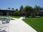 Backyard patio and lanai