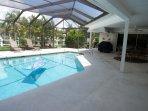 Pool with screened in lanai