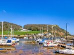 Axmouth Harbour, Seaton a 10 minute walk away