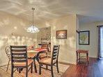 Enjoy your meals around this elegant dining area