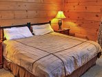 Get a restful night's sleep in the master bedroom's plush king-sized bed