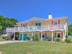 Run away to the Crystal Coast and stay in this beatuiful 4-bedroom, 2-bathroom vacation rental house in Emerald Isle.