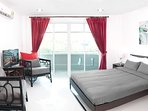 Lovely clean 25 square metre room, only 400m to the best beach in Phuket, Surin Beach.