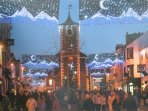 Keswick Central Lakes at Christmas, Lake District World Heritage designated status.