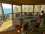 Downstairs deck overlooking Lake Glenville