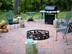 Grilling (gas) and fire pit terrace and water spigot.(this is your kitchen)