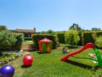 Outdoor playground and children's toys for our little guests to enjoy!
