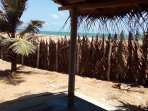 Beach hut for relaxing in the shade and enjoying sunset BBQ