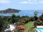 Vista of Pacific Ocean and Flamingo Beach from Villas Casa Loma