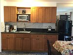 48A Bamboo kitchen cabinet ,granite counter top,big refrigerator