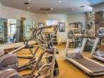 Stay true to your workout routine in the fitness center.