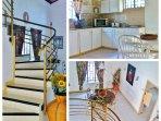 Escalier desservant la suite parentale , belle hauteur sous plafond pour la salle à manger