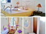 Chambre lit double et chambre lit jumeaux avec salle d'eau attenante Bungalow rdc