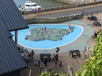 This Isle of Wight shaped paddling pool provides hours of fun for the kids (and there's a great rest