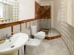 Bathroom No.1 with shower.