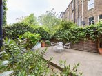 Back garden with outdoor seating