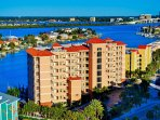 AERIAL VIEW OF HARBOR VIEW GRAND CENTRALLY LOCATED IN CLEARWATER BEACH FL.