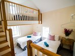 Triple bedroom.  3 single beds with LOFT