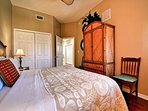 SECOND BEDROOM  KING/ WITH WALK IN CLOSET /SITTING AREA/FULL ENTERTAINMENT CENTER.