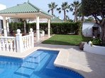Lemon Tree Villa, Secluded private garden and pool. Walk to beach