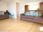 """spacious lounge with 50""""TV and WIFI amazing views from the sofa"""