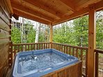 Hot Tub On Back Patio