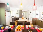Fully equipped new kitchen.  Perfect for family & friends