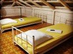 La mezzanine avec ses lits 'twins', idéale pour les enfants