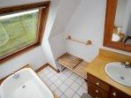 Upstairs Full Bath- soaker tub