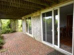 Lower level Patio to Outdoor shower