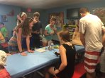 Kids/teen room with activities such as scavenger hunts, etc.