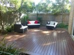 Lovely deck with outdoor furniture