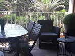 terrasse et vue jardin