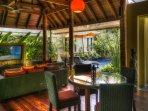 Exotic Thai/Balinese Living area