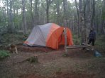 15x8ft tent for rent with 2 full beds with pillows & bedding