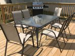 Private patio seats 6 with gas grill for cook outs!