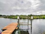 Enjoy a boat dock and lift!