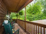 Relax on the front porch and enjoy the mountain air.