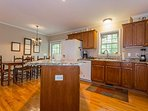 Great kitchen space to prepare for large groups.
