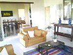 Living Room, Guest Bathroom & Dining Room. Garden & Patio view, Lake View, Mountain View.