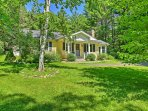 Relish in the privacy of this 2-bedroom, 1-bathroom West Stockbridge vacation rental house that sits on 3-acres of lush...