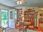 Reading enthusiasts will love the collection of books found in the house.