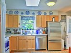 Prepare breakfast, lunch, and dinner in the fully equipped kitchen.