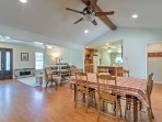 The interior provides an open layout making it easy to visit with the group.